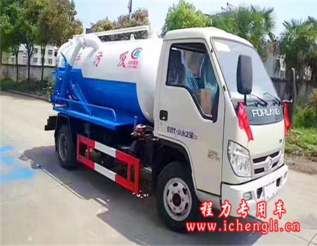 福田吸污车︱2吨吸污车