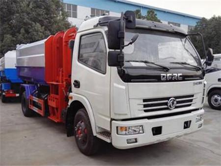 东风多利卡8方挂桶式垃圾车(国五)