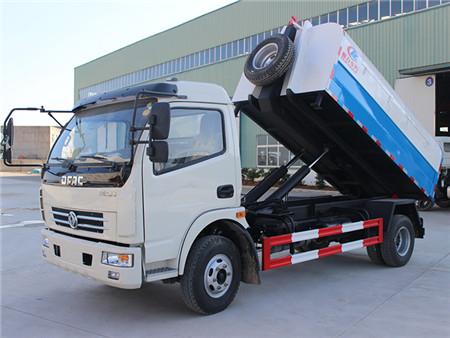 东风多利卡勾臂式垃圾车(6-8立方)