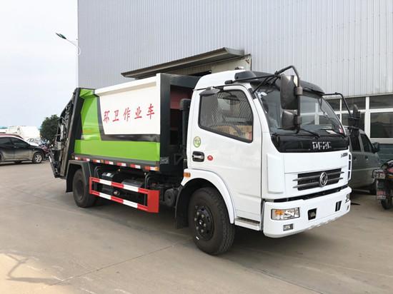 东风多利卡压缩式垃圾车8方(国六)